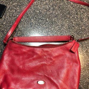 Red medium coach purse